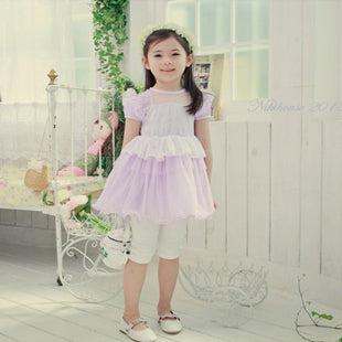 Girl Purple Lace & Tulle Dress