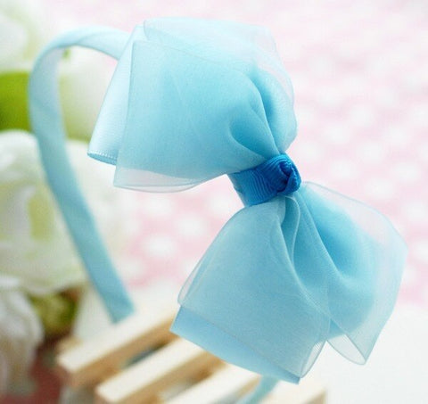 Cinderella Bow Headband - Blue