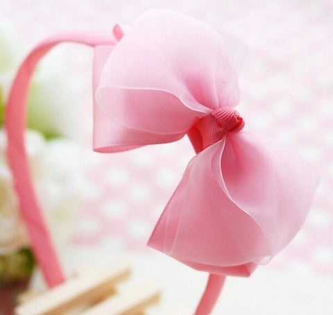 Princess Bow Headband - Pink