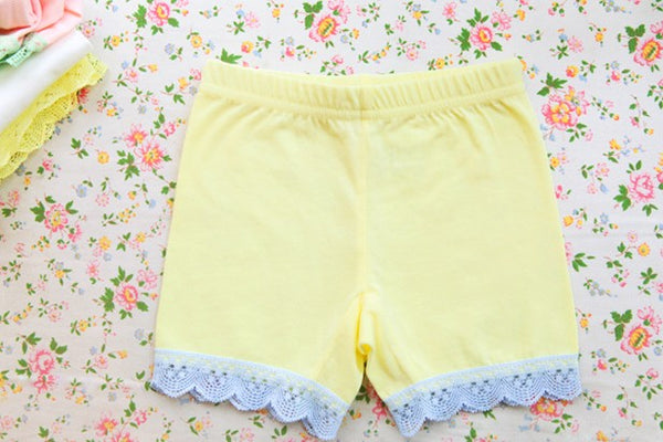 girl short pant for short skirt- Yellow
