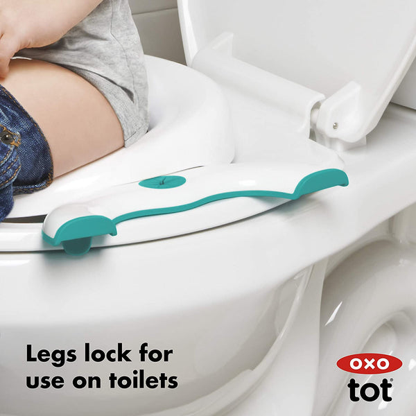 OXO Tot 2-in-1 Go Potty for Travel - Green (USA Brand)