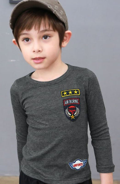 Air Force Slim Fit Cotton Boys T-shirts