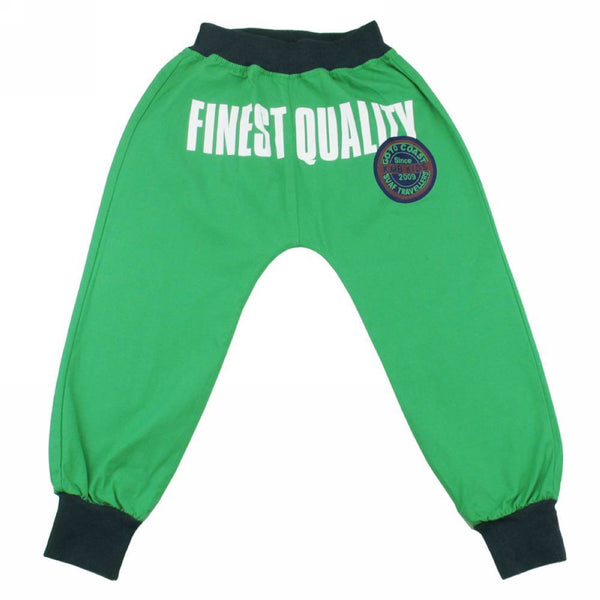 Green Badge Print Boys Trousers