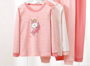 Long John Pyjamas- Unicorn -Pink ( Pre-order)