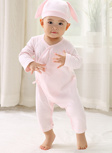 Cotton Baby Sleepsuit - Pink ( Ready stock)