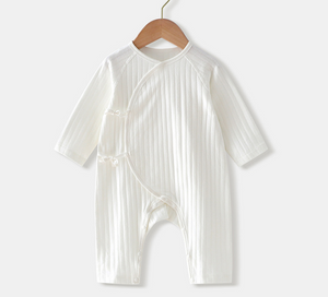Cotton Baby Sleepsuit - White ( Ready stock)