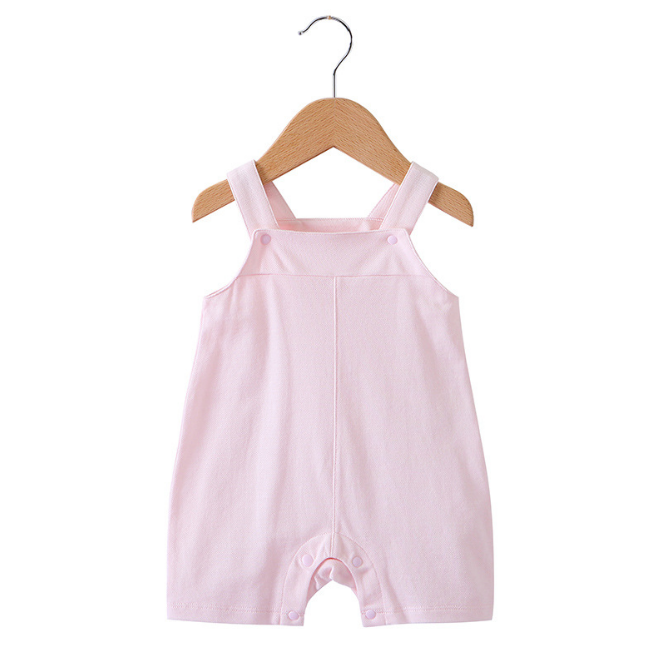 Cotton Baby Dungaree- Pink ( Ready stock)