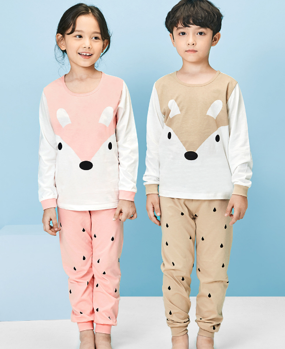 Organic Cotton Pyjamas - Pink Fox (Pre-order)