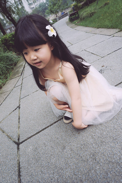Girls Gold Tulle Dress