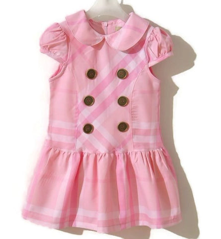 Girl Pink Check Dress