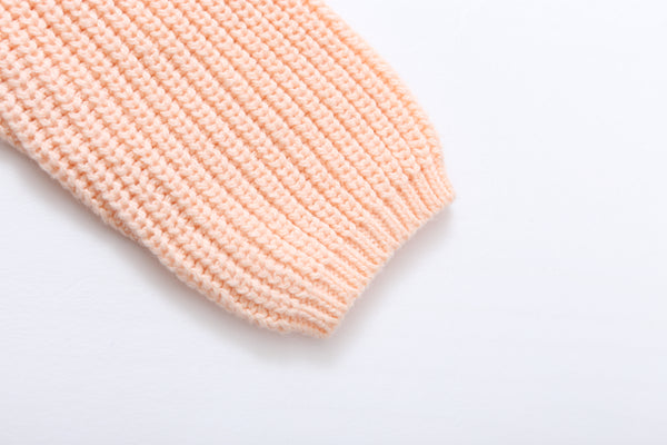 Peach Knitted Girl Sweater