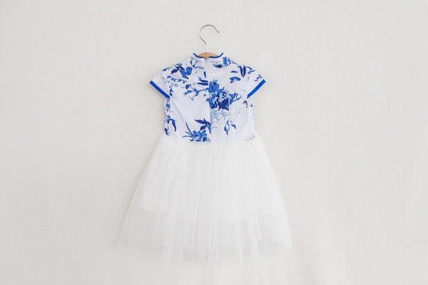 Girls Blue TuTu Cheongsam