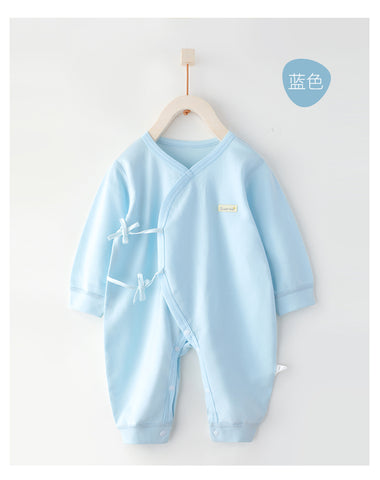 Cotton Wrap Style New Born Baby Sleepsuits- Blue ( Ready stock)