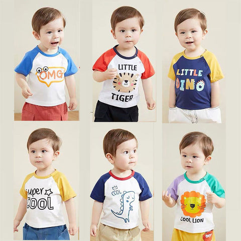 Cute Colorful Cartoon T-shirt For Boy And Girl Cotton Quality.