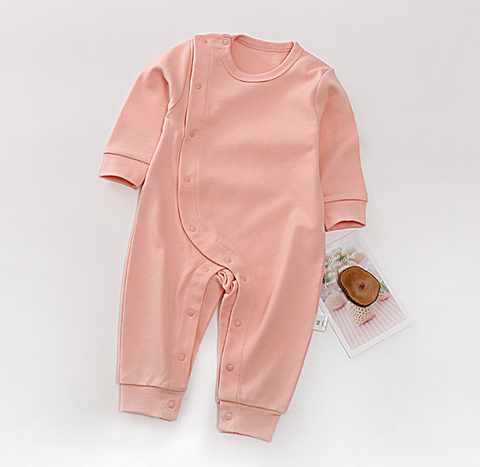 Cotton Baby Wrap Style Sleepsuit - Pink ( Ready stock)