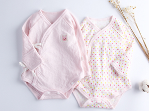 Baby Long Sleeve Wrap Style Bodysuits - Pink Bunny Set ( Ready stock)