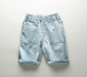 Cotton Denim Jeans Short  - Blue ( Ready Stock)