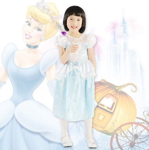 Cinderella Costume Dress For Kids- Blue