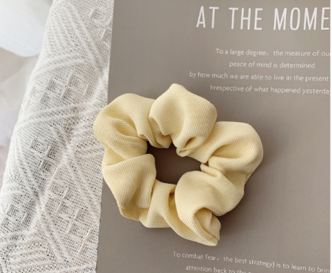 Cord Hair Scrunchie -  Cream
