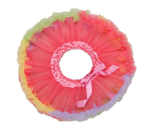 Adjustable Waist Baby TuTu Skirt for 0-2 Years-  Watermelon Red