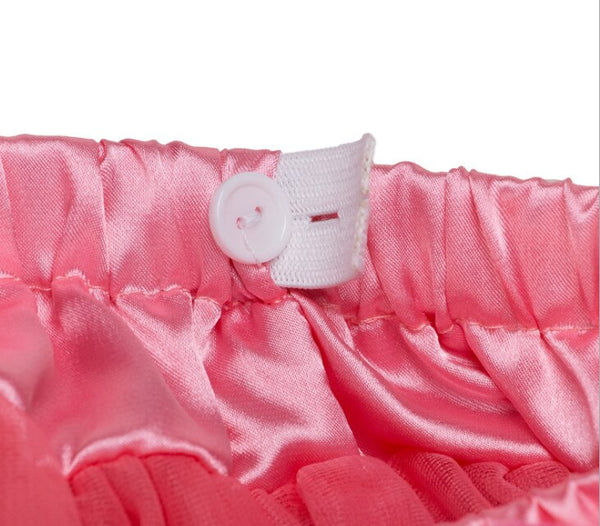 Adjustable Waist Baby TuTu Skirt for 0-2 Years-  Pink Polka Dot