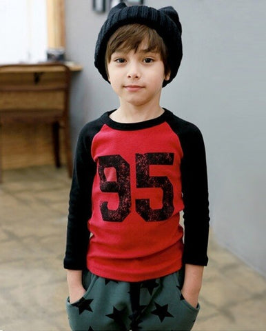 No 95 Red Baseball T-shirt