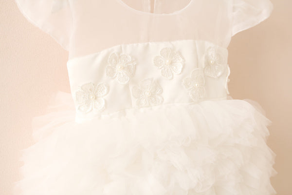 Girls White Tulle Tutu Dress