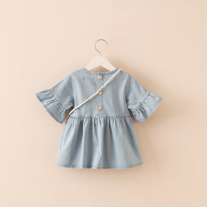 Girls Blue Cotton Blouse