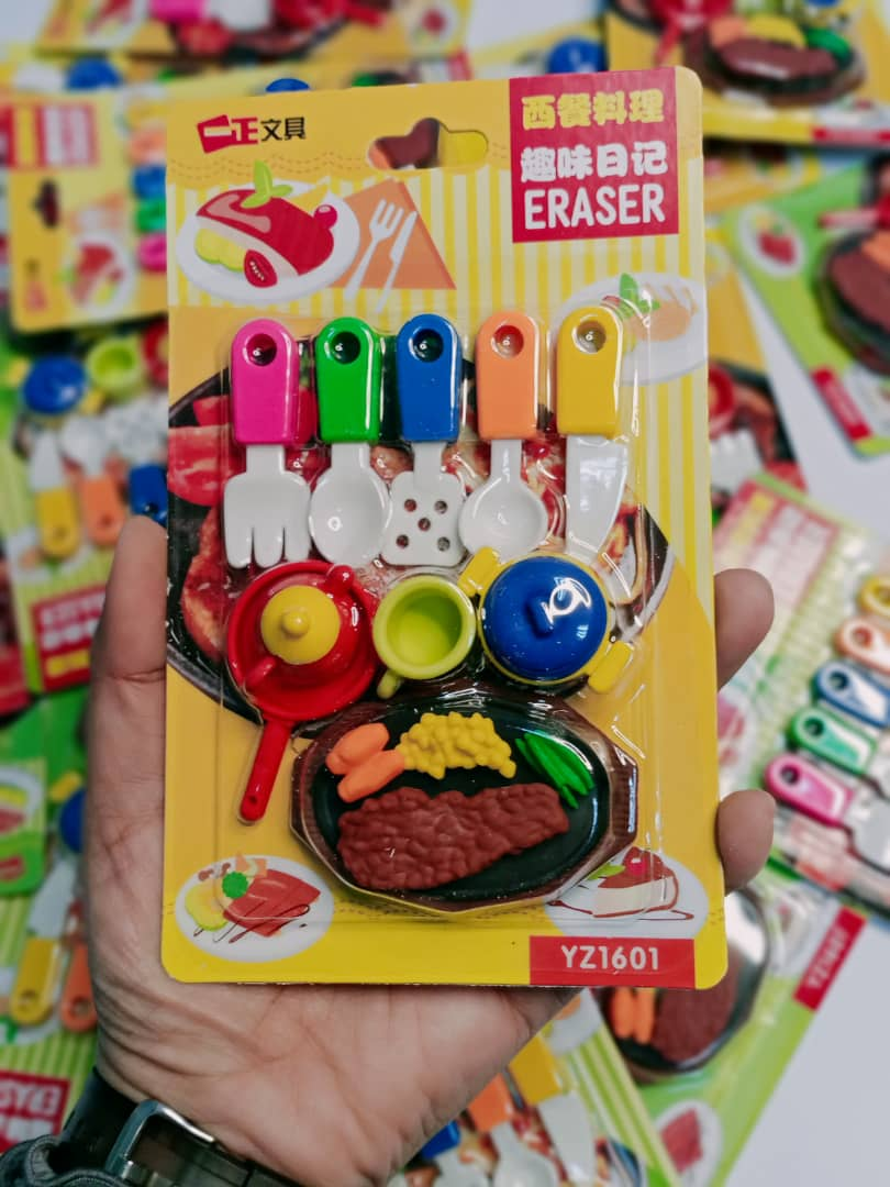 Colorful Steak Eraser
