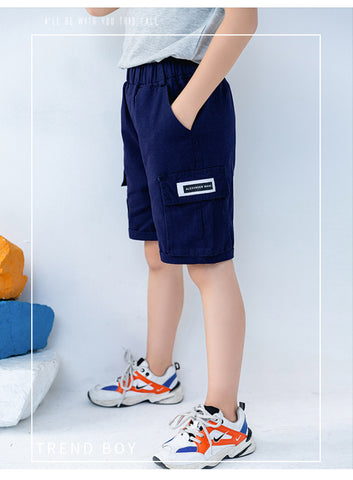 Boys Cotton Casual Short - Navy Blue