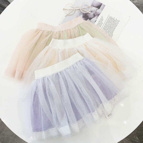 Girls Cute Purple Lace Short Tutu Skirts Korean Style Good Quality