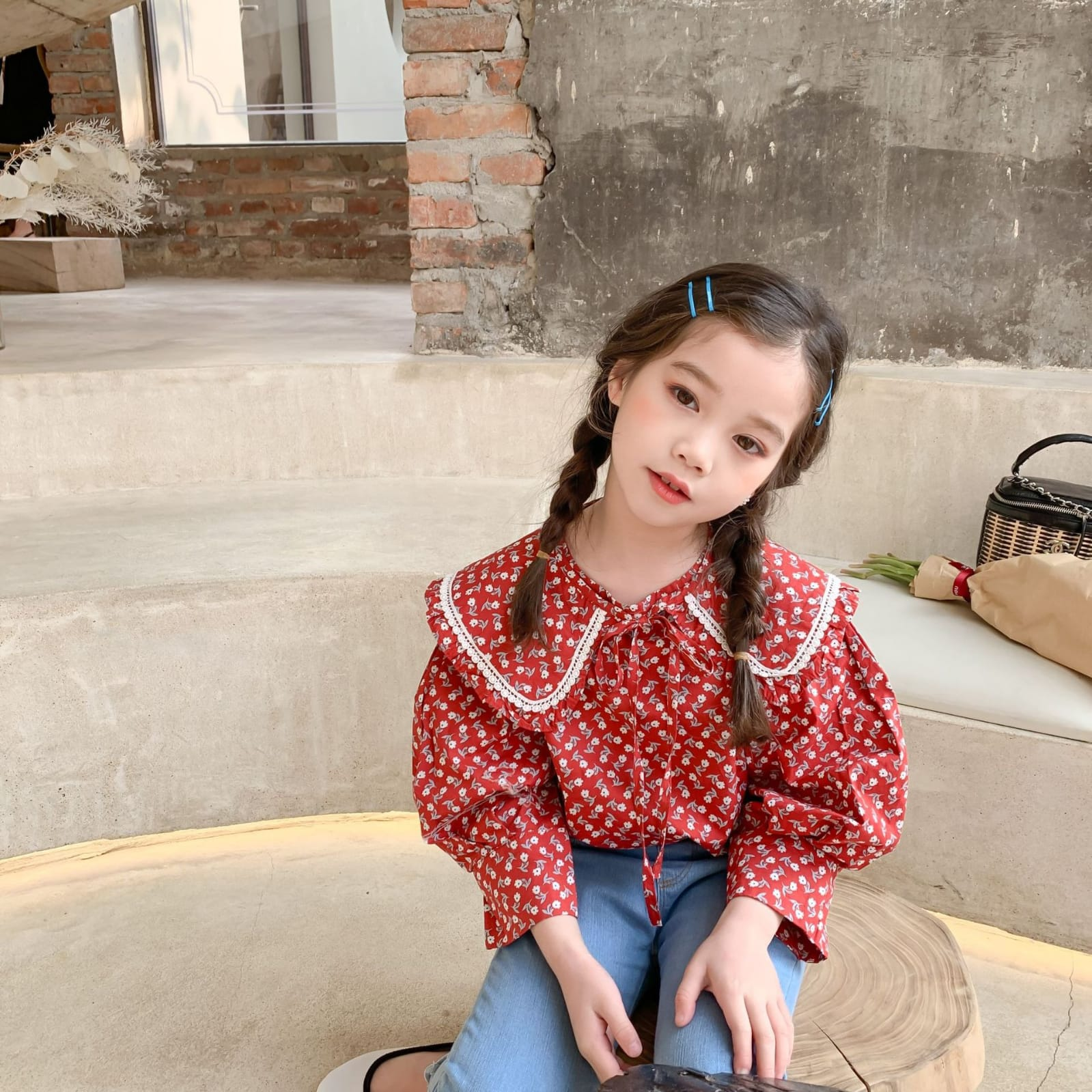 Red Flower Blouse (Pre-order)