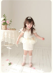 Deluxe  Aroa Cream Skirt ( Made in Korea)