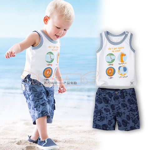 Happy Animal Singlet & pant Set