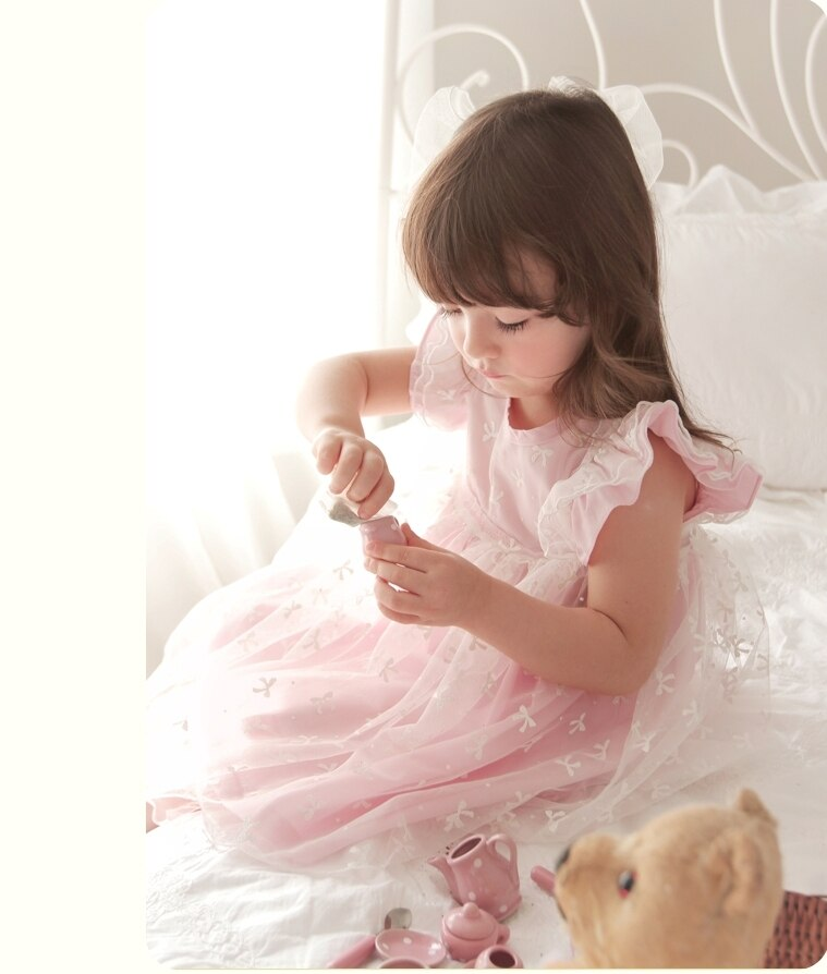 Deluxe  Ellen Shu Pink Dress- 6 Years Only ( Made in Korea)