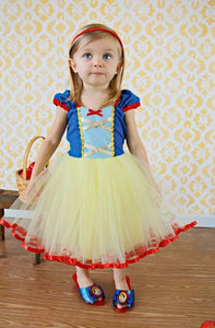 Snow White Costume Cream TuTu Dress
