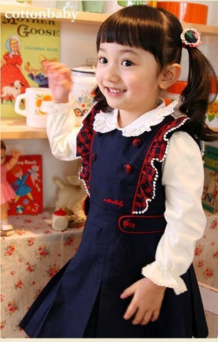 Deluxe Nicola Pinafore Dress ( Made in Korea)