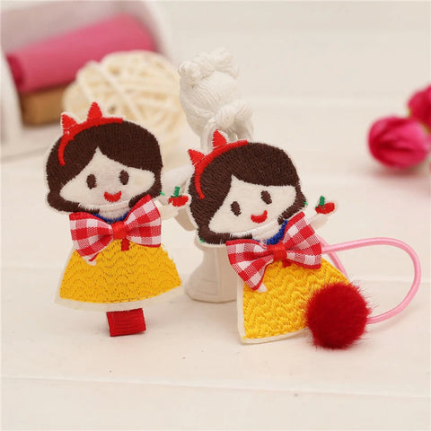 Snow White Ponytailer  2 piece set