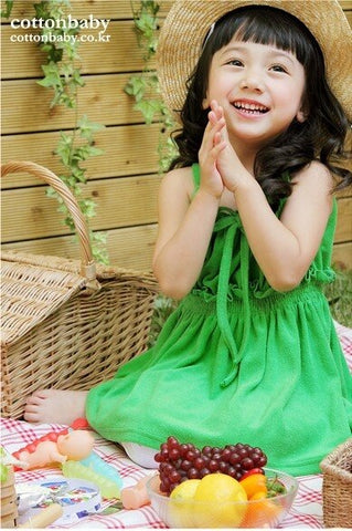 Deluxe Sugar Donut Green Dress (Made in Korea)