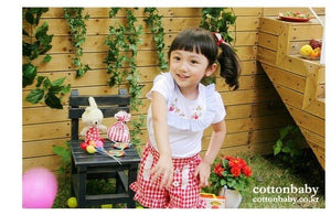 Luxury White Cotton Ruffle Blouse (Made in Korea)