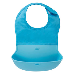 OXO Tot Roll Up Bib, Aqua (USA Brand)