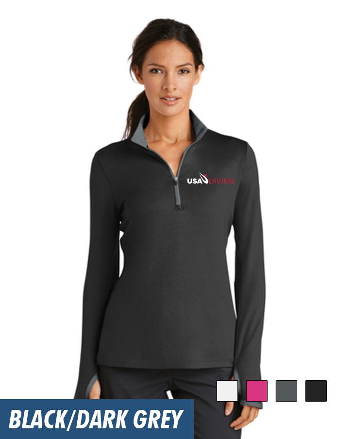 timeless design dd3ed 98172 Nike Ladies Dri-FIT Stretch 1 2-Zip Cover-Up