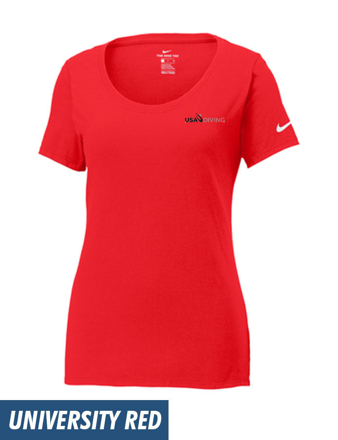 22a926006c Nike Ladies Core Cotton Scoop Neck Tee - USA Diving Store