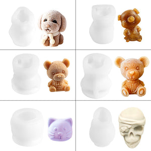 3D Teddy Bear Ice Cube Mold