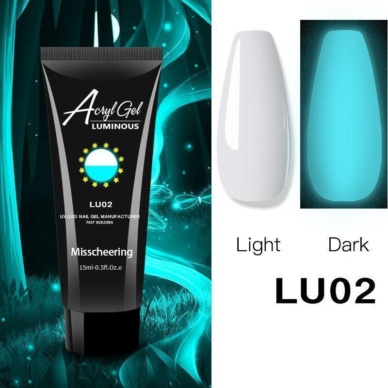 Luminous nail gel