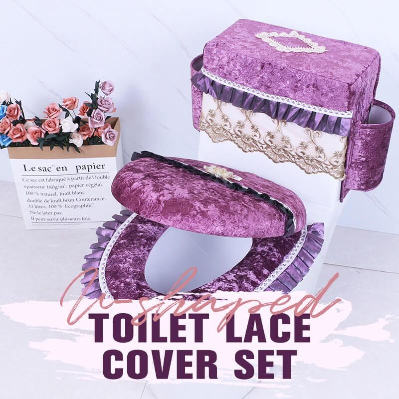 U-shaped Toilet Lace Cover Set