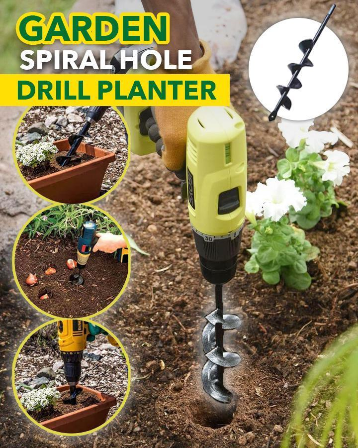 (60% OFF)-Garden Spiral Hole Drill Planter