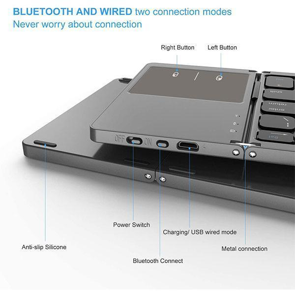 Portable Foldable Bluetooth Keyboard
