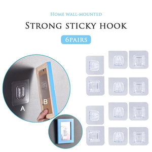 HOT SALEDouble-sided Adhesive Wall Hooks(4Pairs)