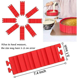4PCS Free-Shaping Silicone Cake Mould